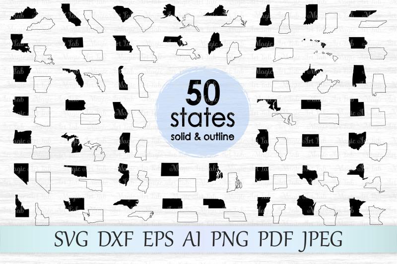 50-states-svg-dxf-eps-ai-pdg-png-jpeg
