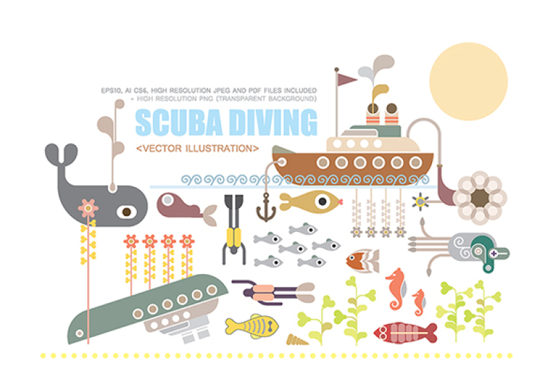 scuba-diving-vector-illustration