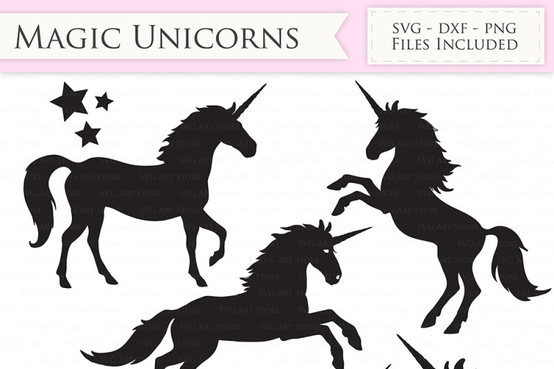 Magic Unicorns Svg Files Unicorn Monogram Cut Files By