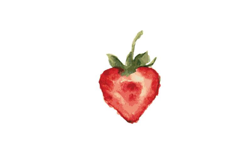 strawberry-watercolor