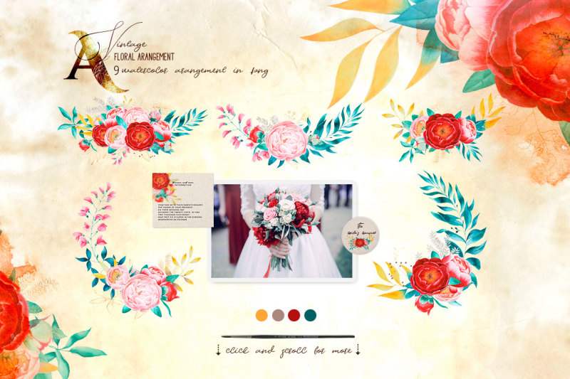 vintage-peony-big-collection-of-watercolor-clipart-and-vector-graphic