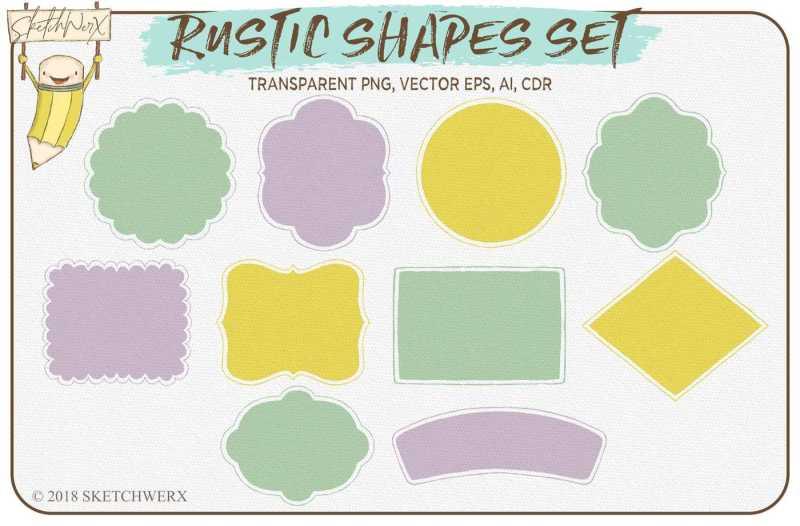 rustic-shapes-set