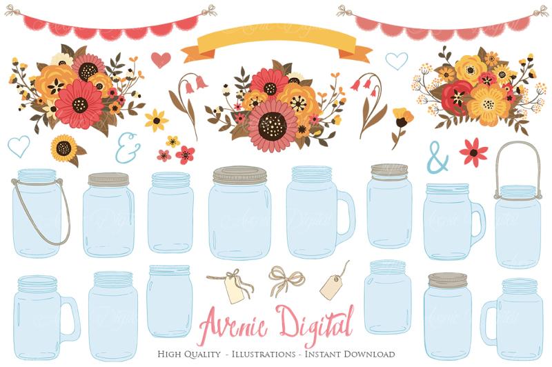 fall-mason-jar-wedding-clipart