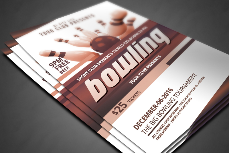 bowling-party-flyer-template