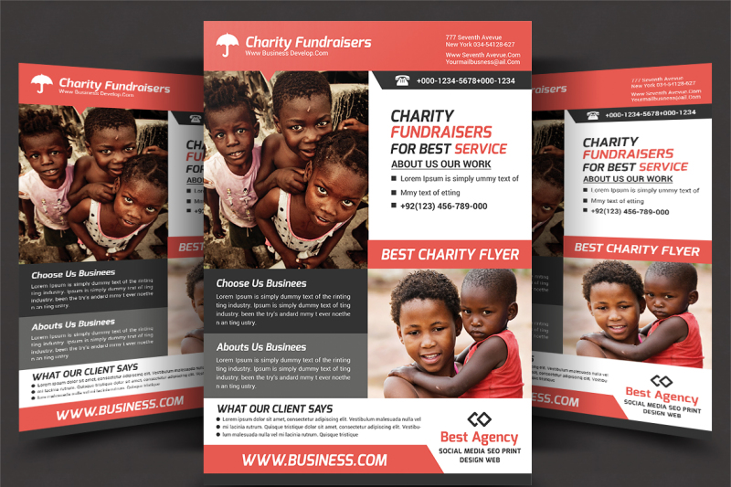 charity-fundrising-flyer