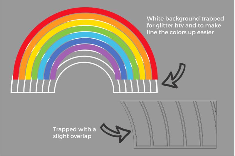 Rainbow Svg Rainbow Png By Svg Cuttables Thehungryjpeg Com
