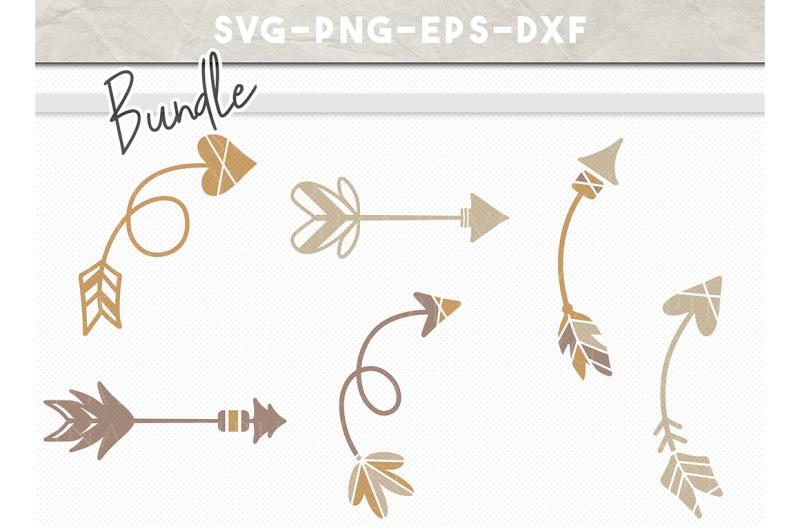 arrow-bundle-svg-file-handdrawn-tribal-arrows-boho-arrow-clipart