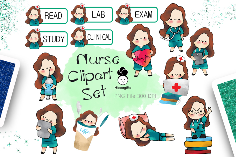 brown-hair-nurse-clipart
