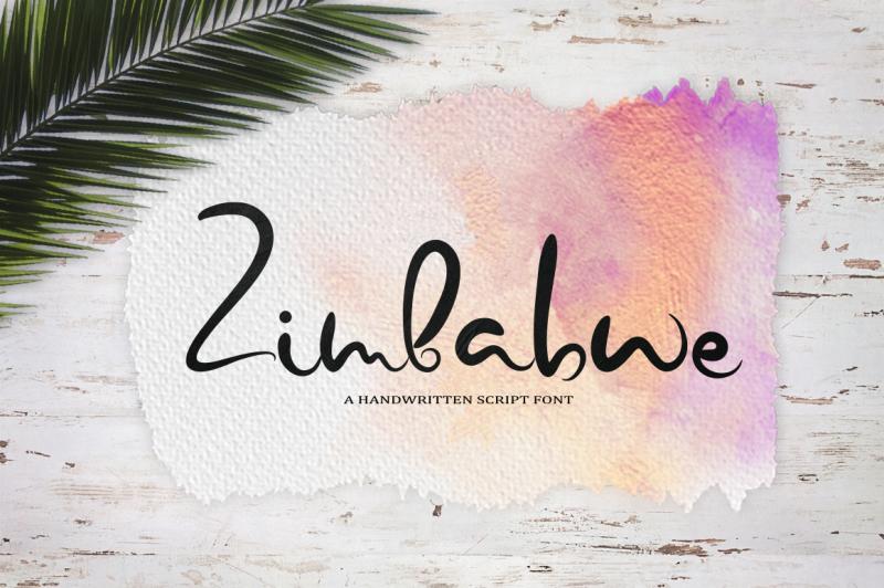 zimbabwe-a-handwritten-script-font