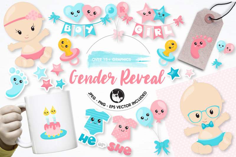 gender-reveal-graphics-and-illustrations
