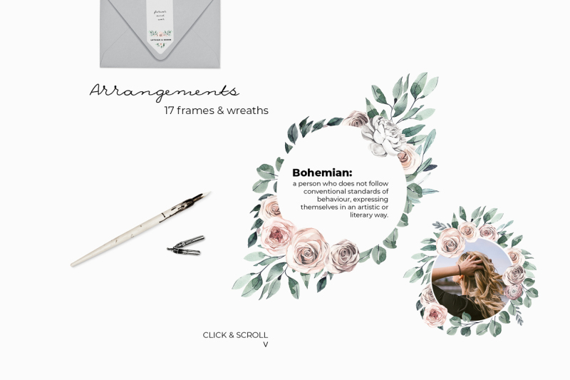 modern-boho-nude-floral-watercolor-collection
