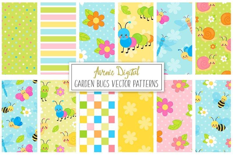 garden-bugs-digital-paper
