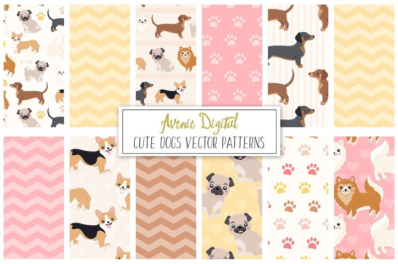 cute-dogs-digital-paper-and-vector-patterns