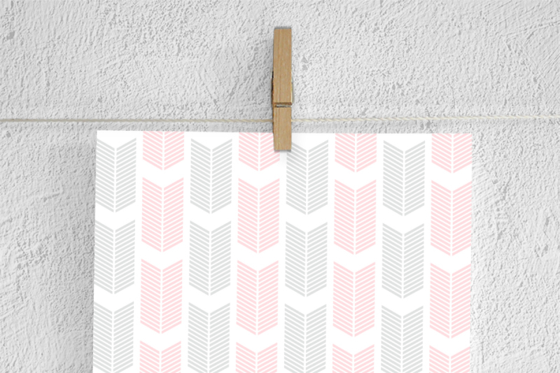 grey-and-pink-arrow-patterns