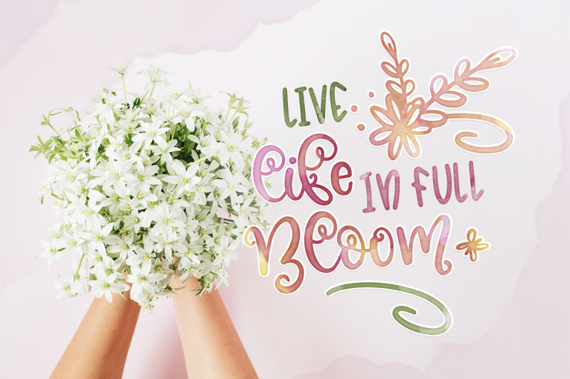 blossomy-font-duo-floral-doodles
