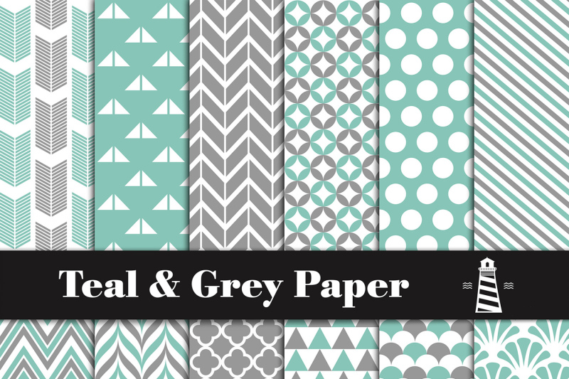 teal-and-grey-patterns
