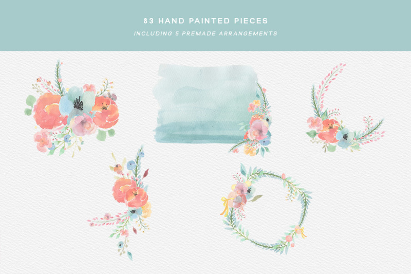 spring-watercolor-clipart-set