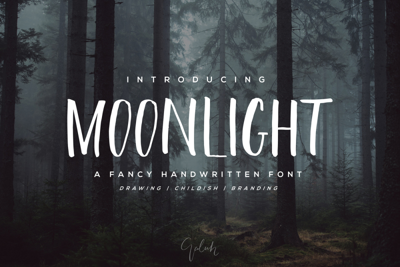 moonlight-brush-font