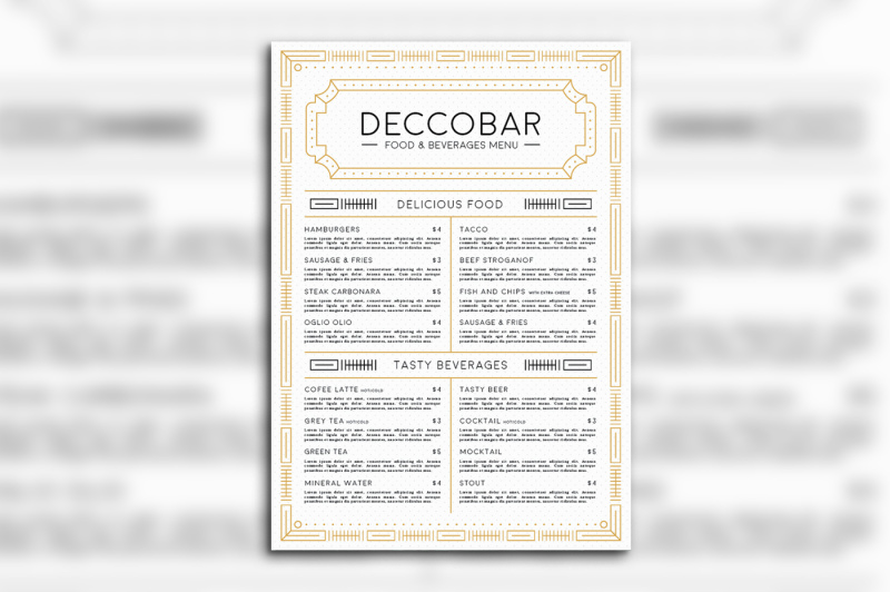 art-deco-food-and-beverages-menu