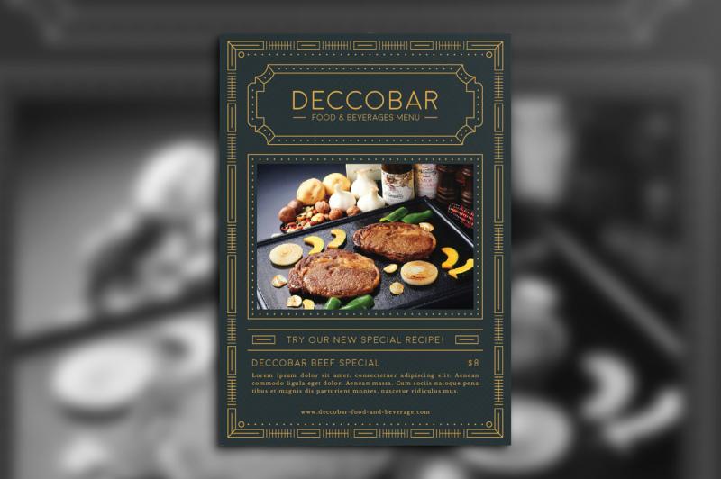 art-deco-food-and-beverages-menu