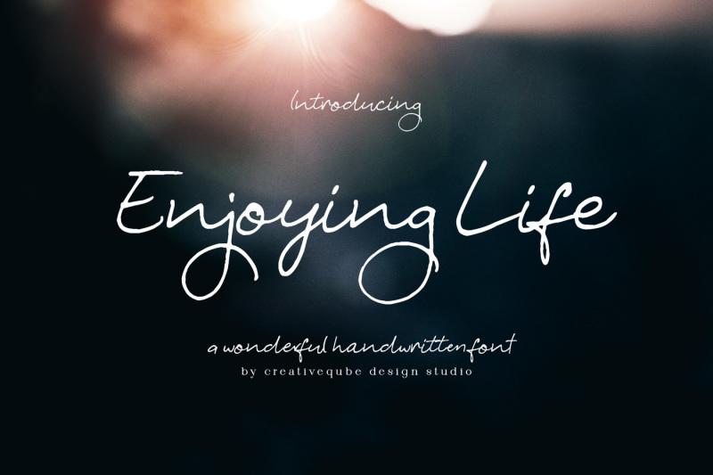 enjoying-life-script-font