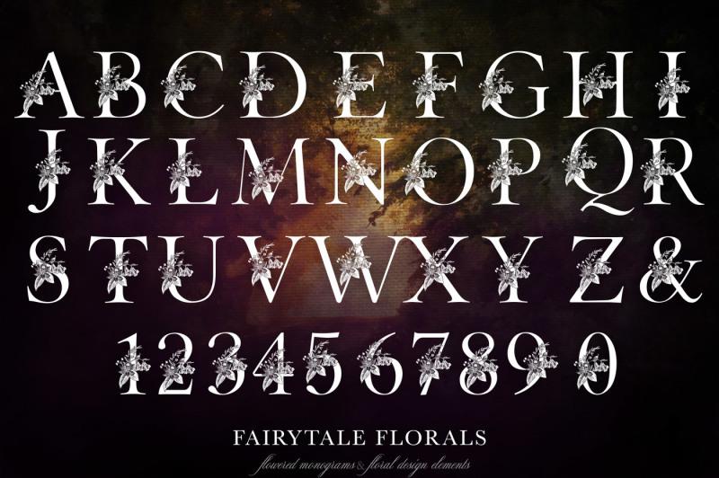 fairytale-florals-monogram-set