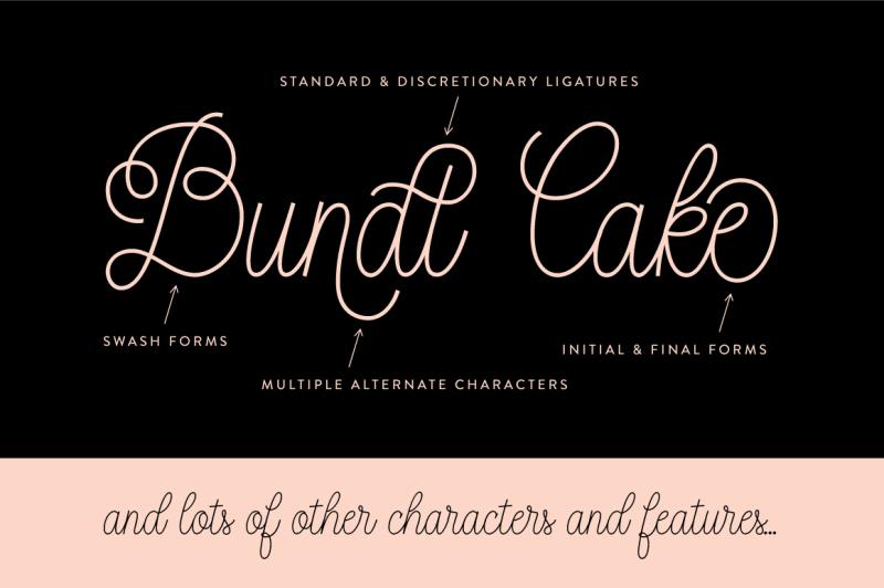 bundt-cake-script-font