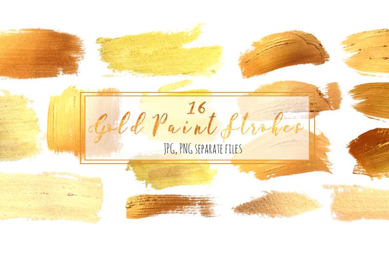 set-16-gold-paint-strokes
