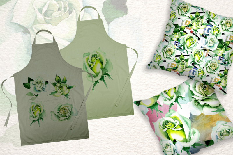 white-rose-watercolor-png-flower-set