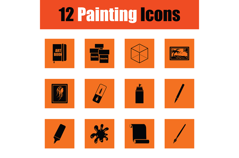 set-of-painting-icons