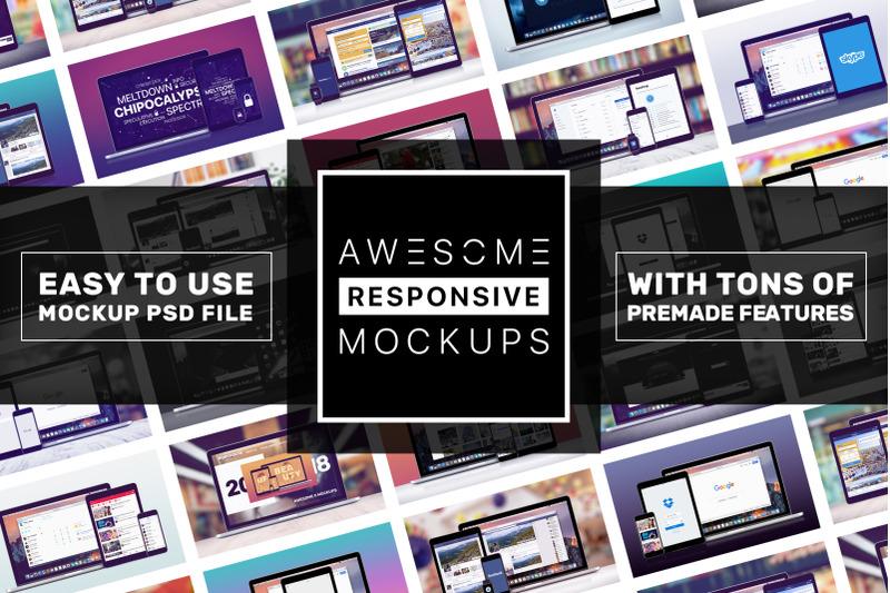 Free Awesome Responsive Mockups (PSD Mockups)