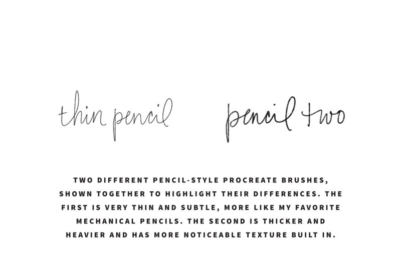 thirteen-procreate-lettering-brushes