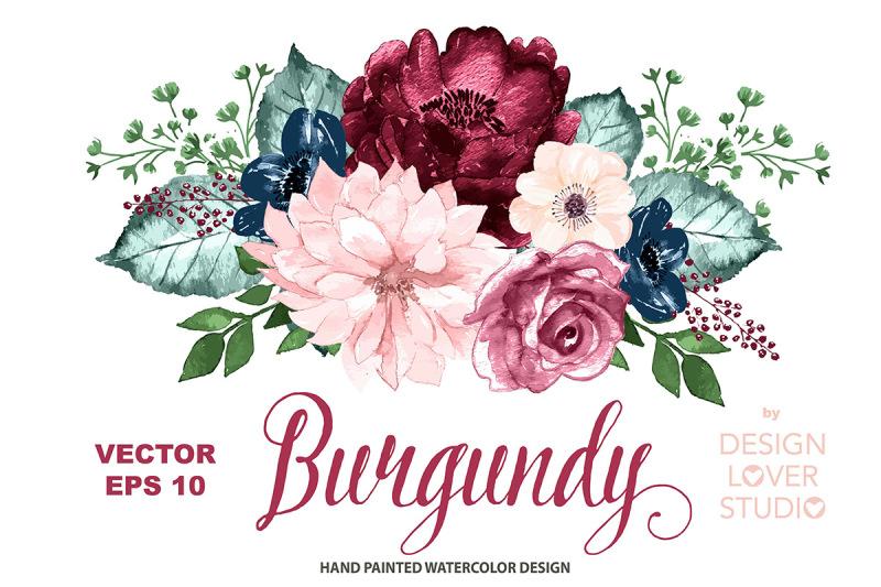 vector-burgundy-romance-design