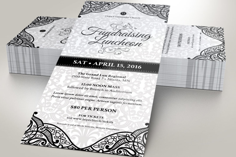 black-white-luncheon-flyer-template