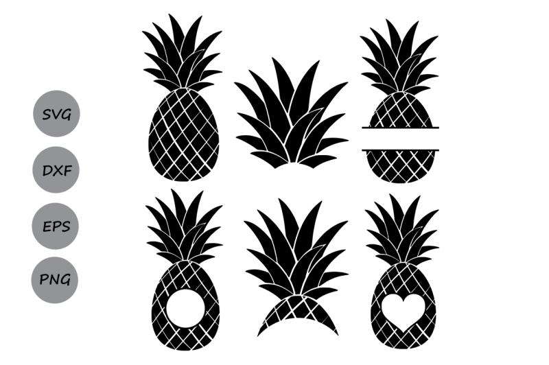 Download Pineapple SVG, Pineapple Monogram Frames, Pineapple Cut ...