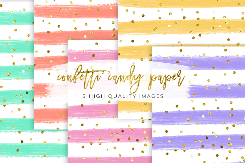 mustard-yellow-confetti-paper-watercolor-stripe-digital-paper