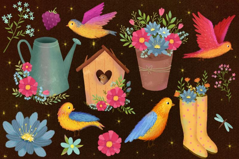 summer-garden-clip-art-flowers-set
