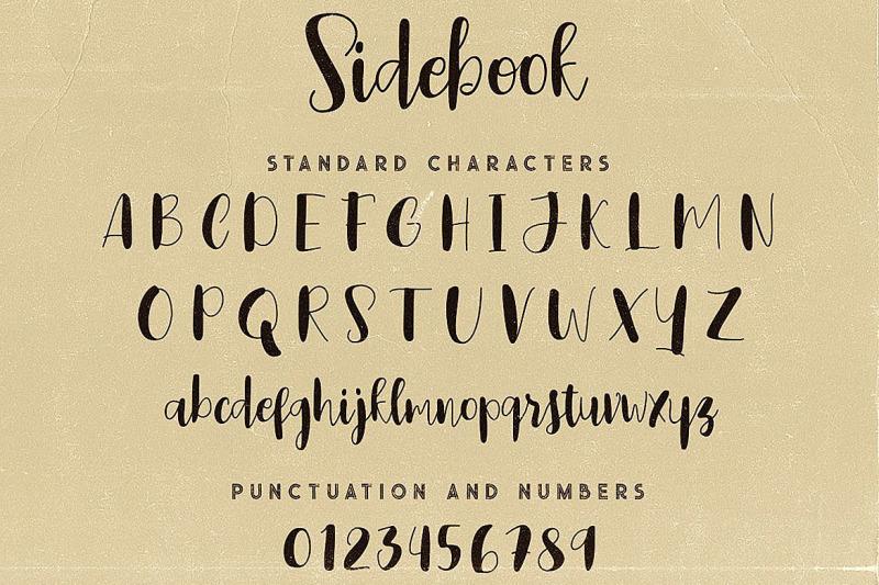 sidebook-script-font