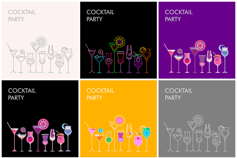 cocktail-party-vector-banner-designs-large-set
