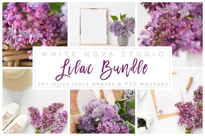 Free Lilac Bundle (PSD Mockups)