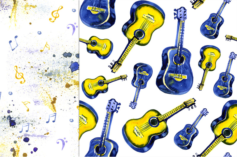 watercolor-musical-instruments-set
