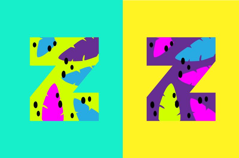 summer-time-handdrawn-alphabet