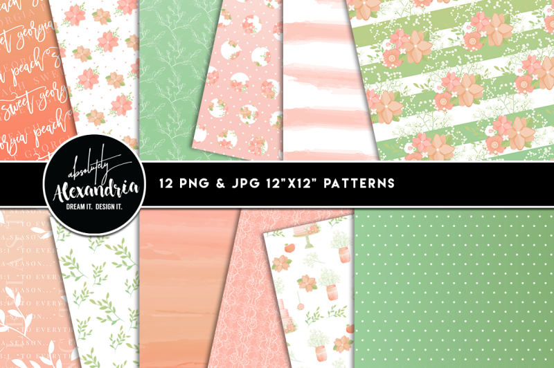 sweet-georgia-peach-clipart-graphics-and-paper-patterns-bundle