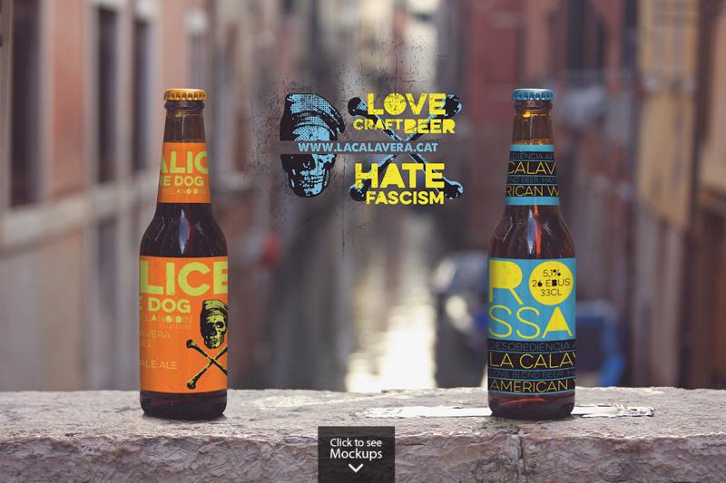 Download Dark Amber Glass Beer Bottle Mockup Yellowimages