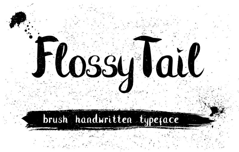 flossy-tail-brush-handwritten-typeface