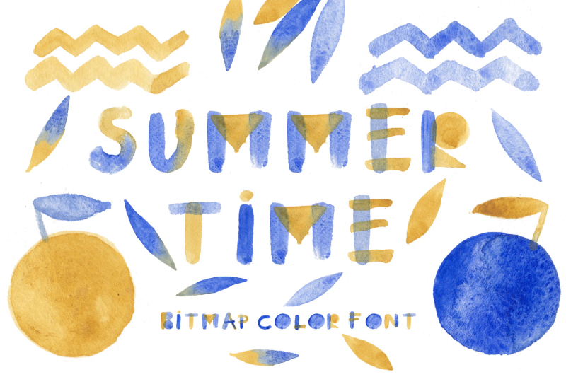summertime-bitmap-color-font