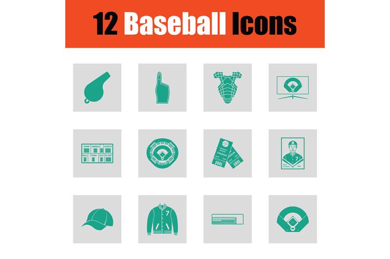 baseballl-icon-set