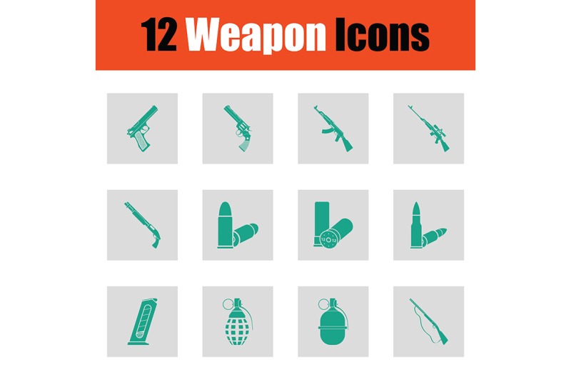 set-of-twelve-weapon-icons
