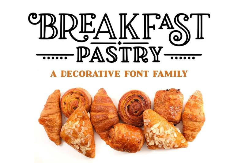 breakfast-pastry-a-decorative-font-family