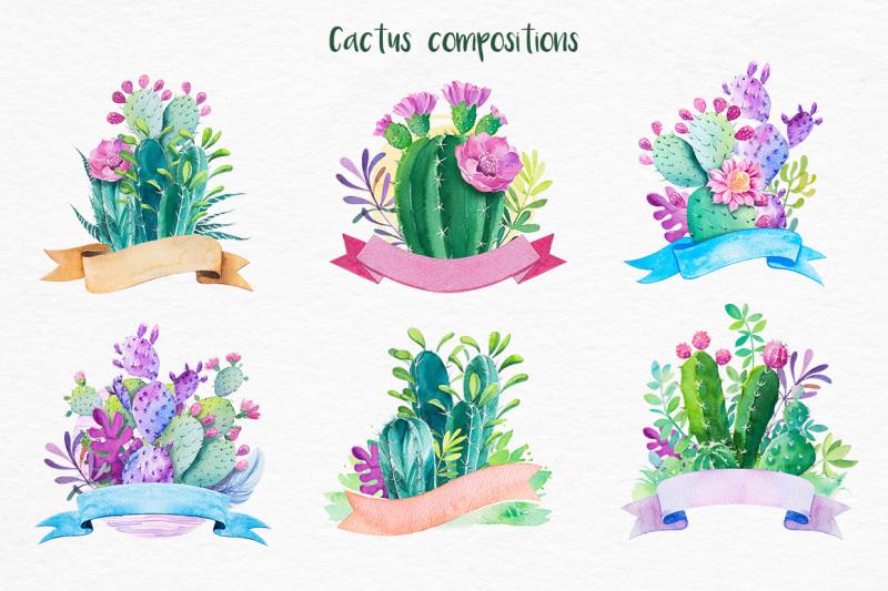 cactus-watercolor-illustrations